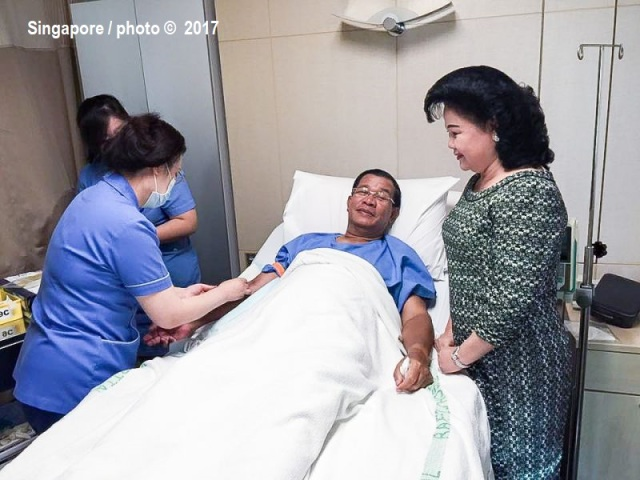 hun_sen_gets_health_check_in_singapore_20_01_2016_facebook
